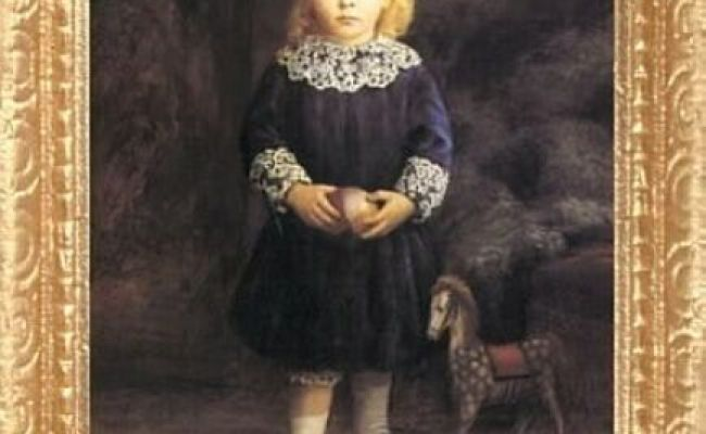Victorian Child Portrait With Toy Horse Miniature