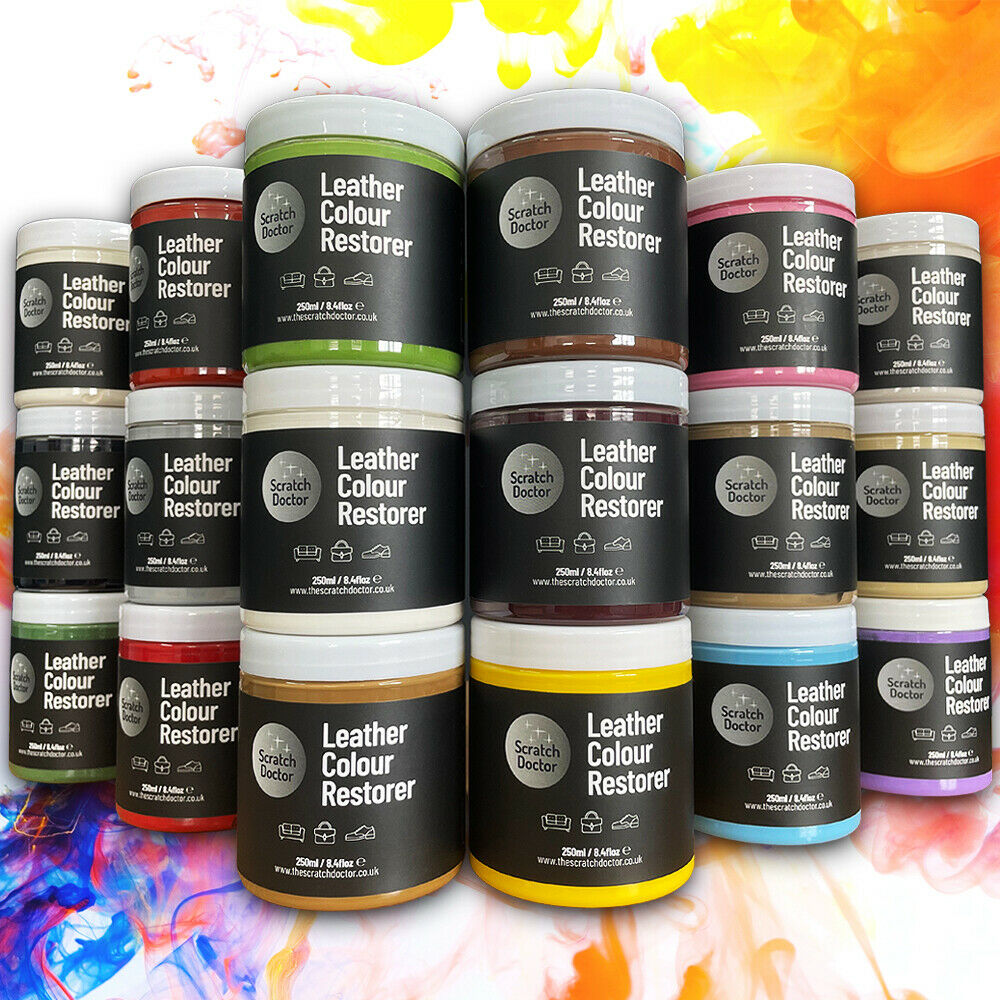leather sofa cleaning kit ink on dye colour restorer. for faded and worn ...