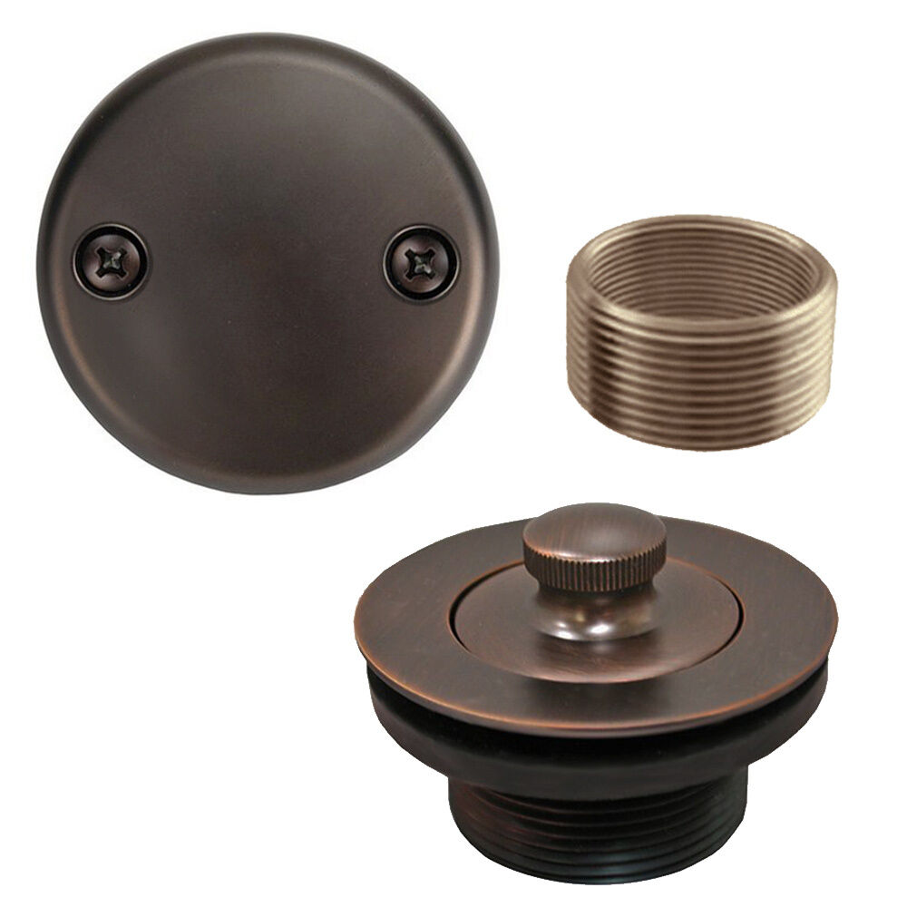 Oil Rubbed Bronze Lift and Turn Tub Drain Bathtub Conversion Assembly Kit Brass  eBay