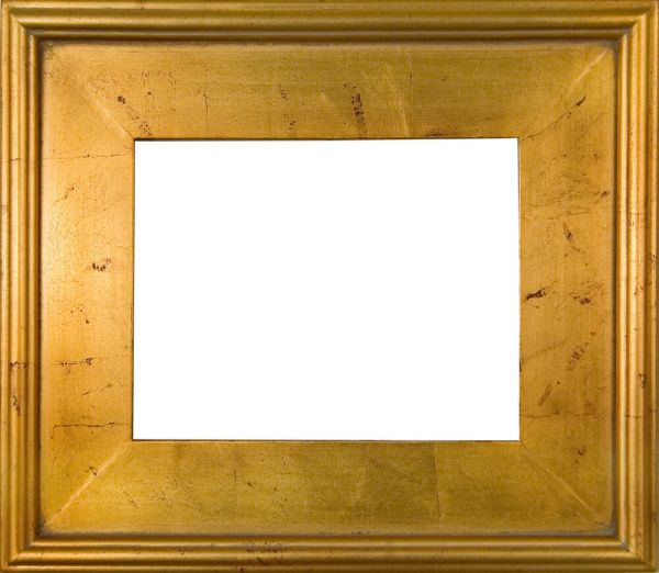 Frame Wood Plein Air Gold Red Distress 3 8
