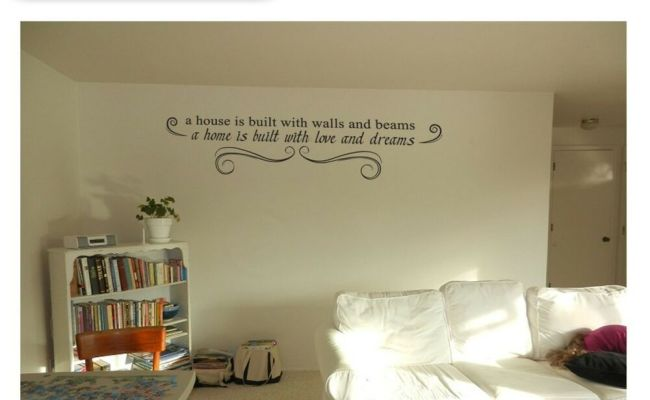 Home Decor Inspiration Wall Quote Art Work Vinyl Stickers