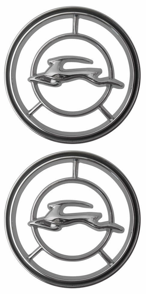 1965 1966 Chevy Impala Front Fender Emblem Pair Made in