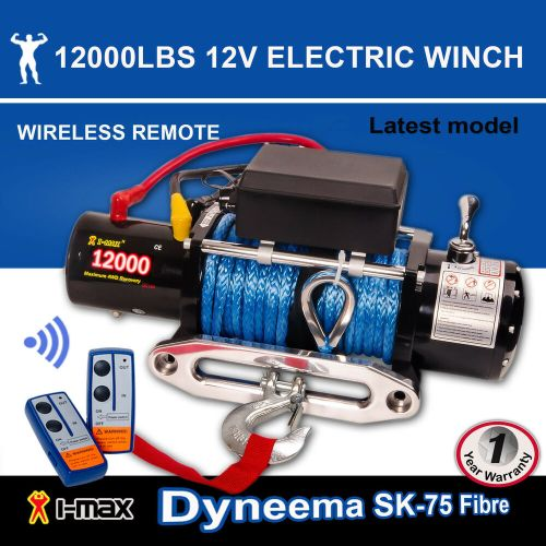 small resolution of 12v electric winch 12000lbs 5443kgs wireless synthetic rope 4wd atv boat truck ebay