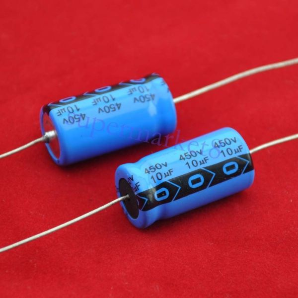 2pcs Axial Electrolytic Capacitor 10uf 450v Tube Amp Diy