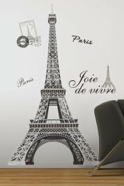 """eiffel tower giant 56"""" removable"""
