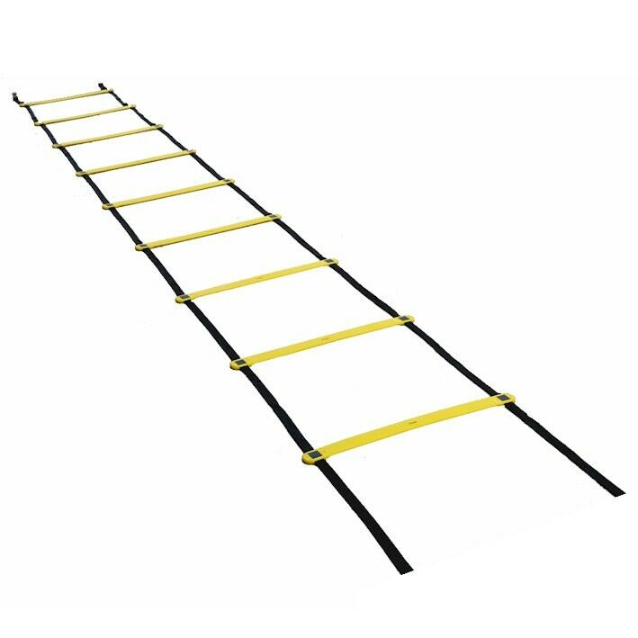 WORKOUTZ 15FT FIXED RUNG AGILITY SPEED LADDER WITH
