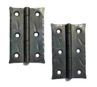 """2 x 3"""" HAND FORGED BUTT DOOR HINGES ANTIQUE CABINET BLACK"""