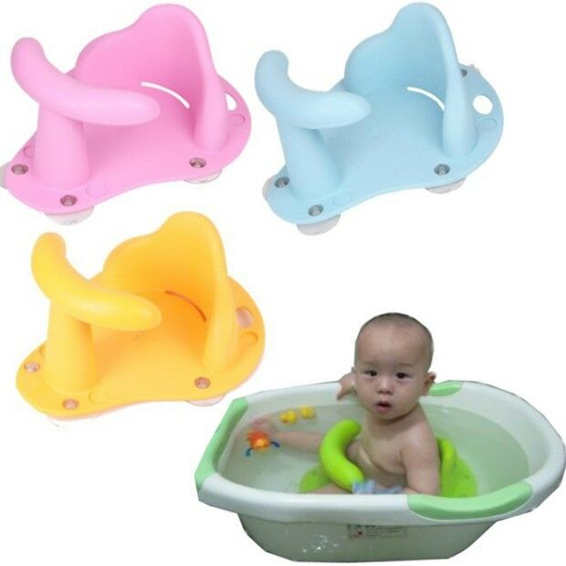 Baby Infant Child Toddler Bath Seat Ring Non Anti Slip Safety Chair Mat Pad Tub EBay