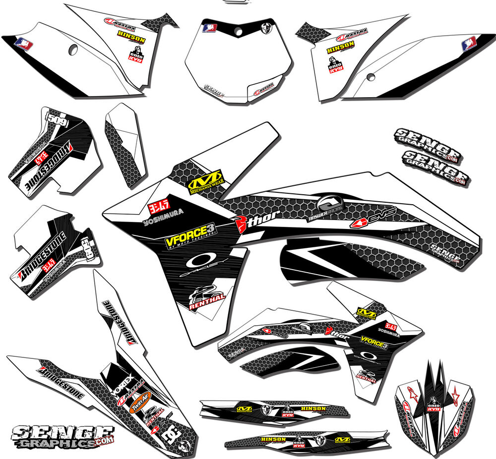 2005 2006 RMZ 450 GRAPHICS KIT SUZUKI RMZ450 05 06 DECO