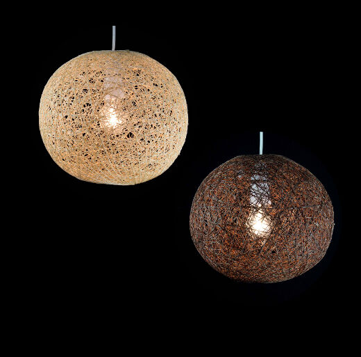 Natural Abaca Rattan Ball Pendant Shade 2 Colours 2 Sizes