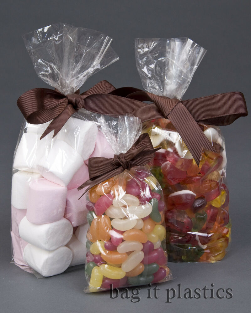 CLEAR CELLOPHANE SWEET CANDY CELLO DISPLAY PICK N AND MIX