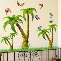 Tropical Coconut Palm Tree Wall Stickers Kids Nursery ...