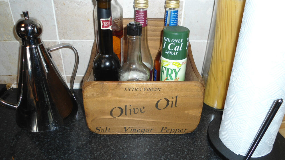 (New)Country Farmhouse Large Olive Oil Salt n Pepper Stand
