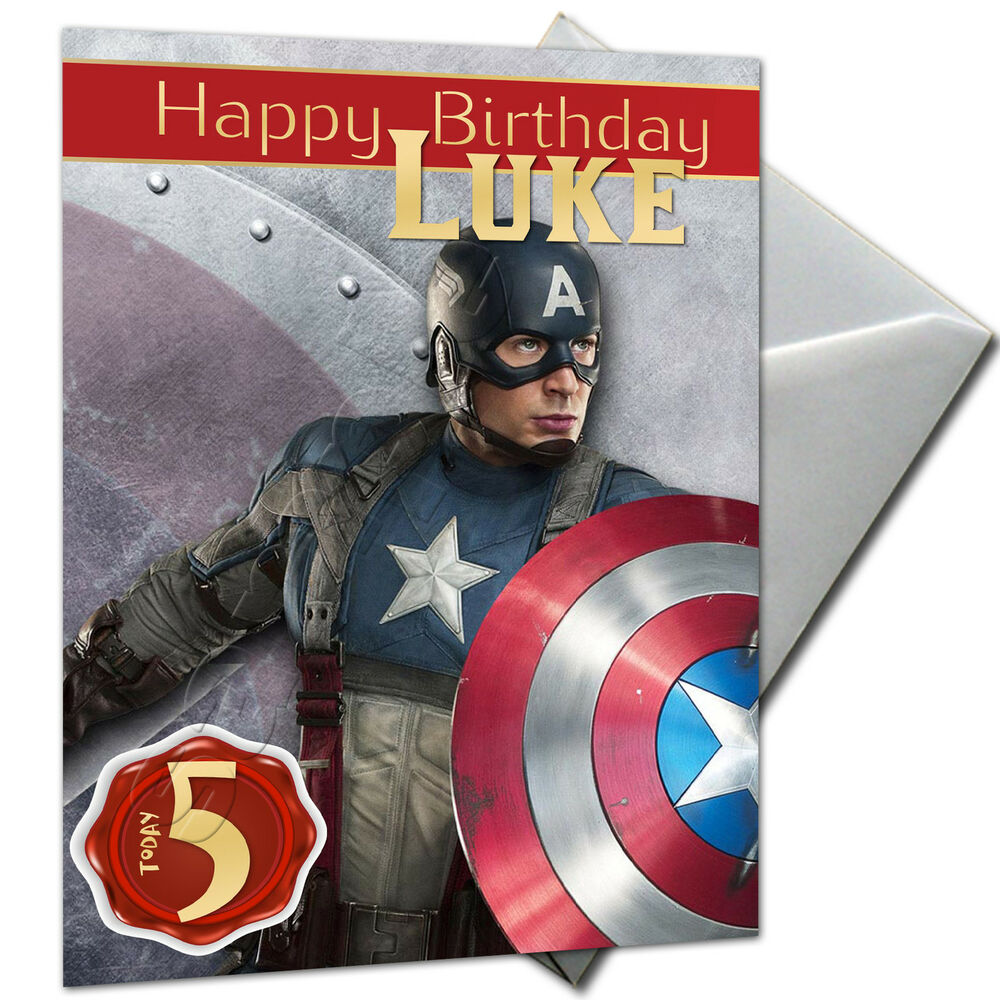 THE AVENGERS CAPTAIN AMERICA PERSONALISED Birthday