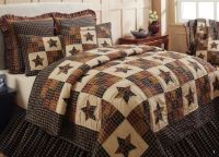 5 PC Queen Cambridge Star Quilt Set Primitive Country