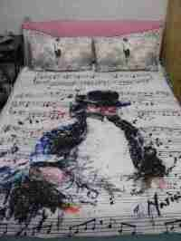 Michael Jackson MJ Billie Jean Lyrics Bed SHEET /BLANKET ...