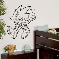 LARGE WALL ART STICKER SONIC THE HEDGEHOG TRANSFER DECAL ...