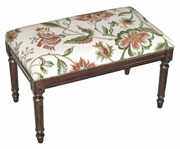 BENCHES WAVERLY MANOR UPHOLSTERED BENCH VANITY BENCH