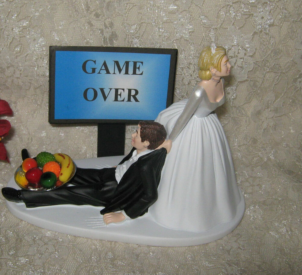 Wedding Reception Party Funny Homorous Game Over Sign Bowl