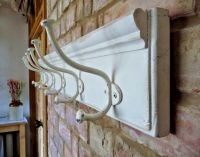 Vintage Style Coat Rack Country Cottage Shabby Chic Pine ...