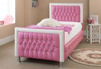 PINK LEATHER BED 3FT *NEW EXCLUSIVE DESIGN PERFECT FOR ANY ...
