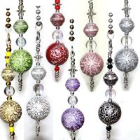 Silver accent Flower acrylic beads your Ceiling fan Light ...