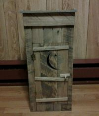 HANDCRAFTED OAK OUTHOUSE TOILET PAPER HOLDER PRIMITIVE ...