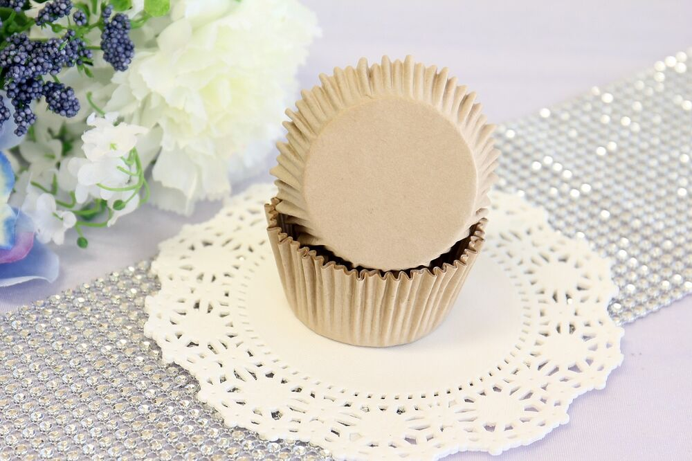 2'' Paper Cupcake Muffin Liners, Baking Cups, Natural