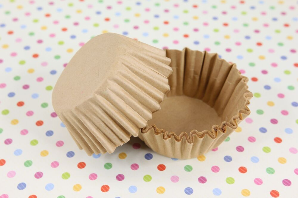 """1-5/8'' X 15/16"""" Paper Cupcake Muffin Liners, Baking Cups"""