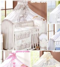 Coronet Canopy Drape / Mosquito Net BIG Fits Cot Bed ...