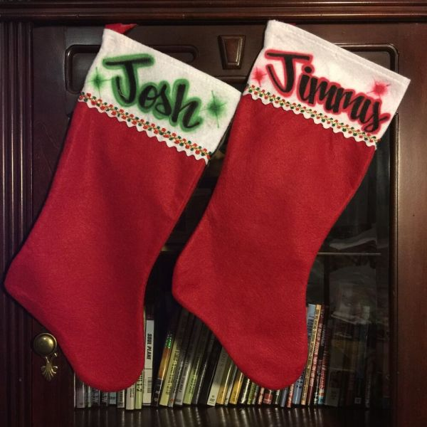 Personalized Christmas Stocking Stuffer Red White