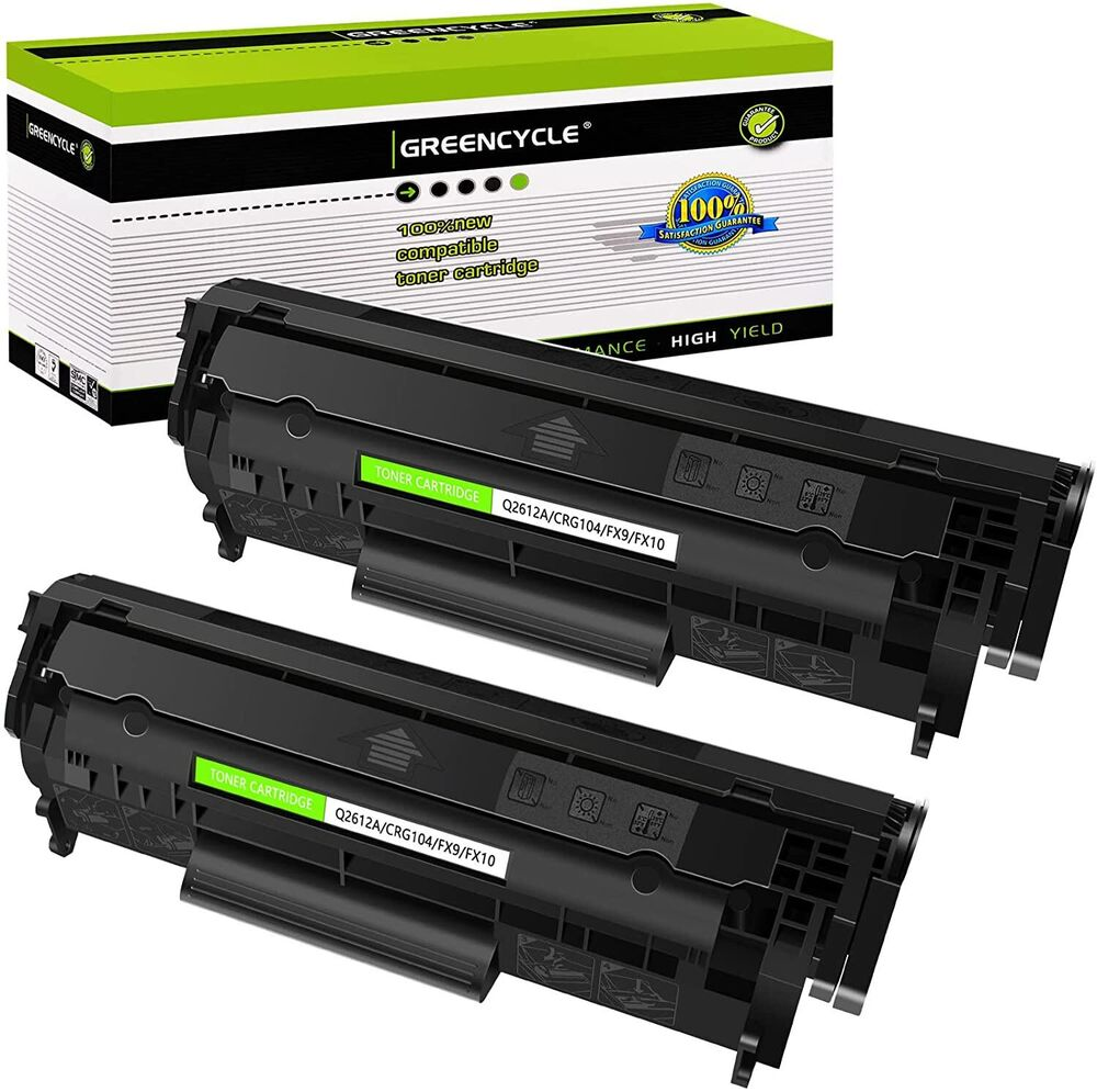 2pack Q2612a 12a Laser Toner Cartridge Compatible For Hp