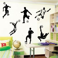 6 FOOTBALL FOOTBALLERS WALL ART BOYS BEDROOM WALL STICKERS ...