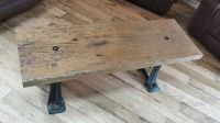 Reclaimed Barn Wood Coffee Table Cast Iron Legs. Unique ...