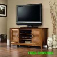 TV Stand Entertainment Center Media Furniture Console Wood ...