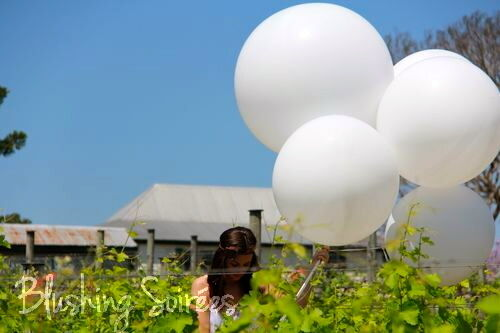 6x Jumbo Giant Round Large Balloons 3 Foot Huge White