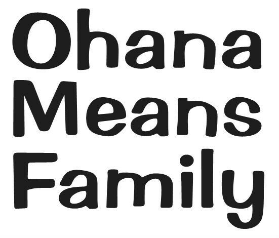 OHANA MEANS FAMILY STICKER HAWAII CUTE DECAL WALL LAPTOP
