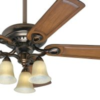 "52"" Hunter Ceiling Fan - Bronze Patina Finish - 3 Light ..."