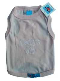 Pet Dog Cat Clothes T-Shirts *Daddy's Girl* Pink XXS, XS ...