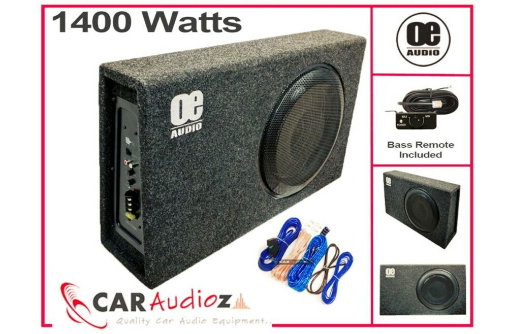 Oe Audio Oe 112sa Sub Woofer Built In Amp Amplified Active Slim Shallow Bassbox+  Ebay