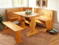 Corner Furniture Table Bench Dining Set Breakfast Kitchen ...