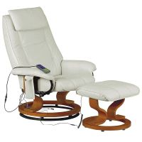 Leather Recliner Reclining Massage Chair Armchair Seat ...