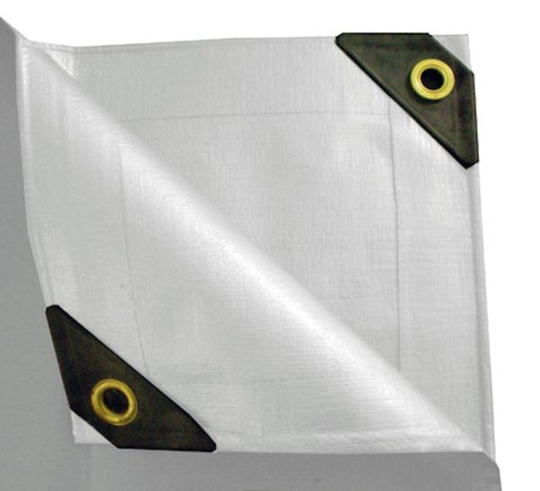 Mil Heavy Duty Canopy Tarp - 3 Coated Tent Car Boat Cover-white- Diff Sizes