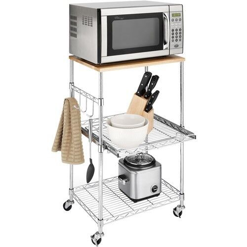 rolling kitchen carts moen faucet island cart portable microwave cabinet ...