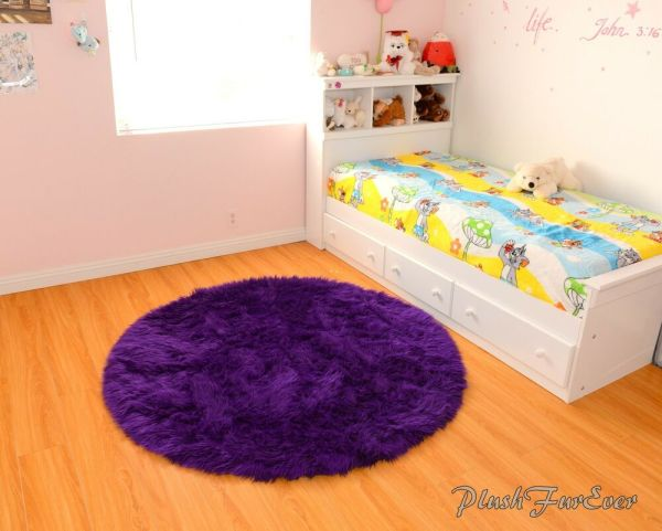 Purple Area Rugs for Girls Room