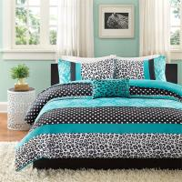 BEAUTIFUL BLUE PINK AQUA TEAL LEOPARD ZEBRA POLKA DOT TEEN ...