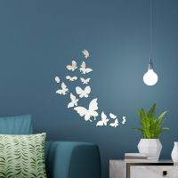 Mirror Home Wall Art 14 Butterflies Decal Decoration ...