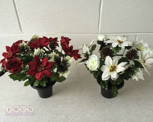 20 Christmas Artificial Flowers For Graves Pictures And Ideas On