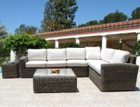 Premium Outdoor Wicker Monte Carlo Sectional 6PC Furniture ...