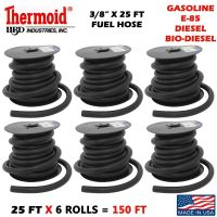 """6 ROLLS OF 3/8"""" X 25 FT EACH THERMOID GAS FUEL E-85 LINE ..."""